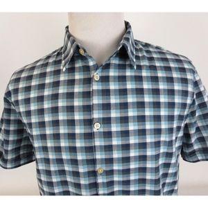 John Varvatos Large Slim Fit Woven S/S Sport Shirt